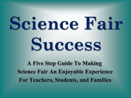 Science Fair Success A Five Step Guide To Making Science Fair An