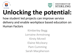 Unlocking the potential - Clinical Skills Managed Educational Network
