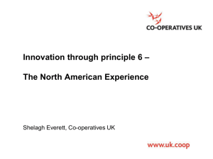 Innovation through principle 6: The North - Co