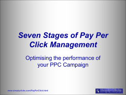Seven Stages of Pay Per Click Management