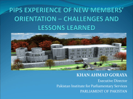 The Pakistan Institute for Parliamentary Studies (PIPS)