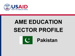 Education Sector Profile