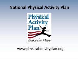 Implementation - National Physical Activity Plan