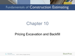 Chapter 10: Pricing Excavation and Backfill