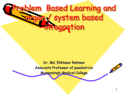 Problem Based Learning and orga