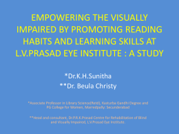 empowering the visually impaired by promoting reading habits and