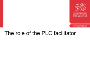 The role of the PLC facilitator