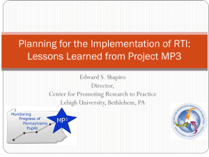 Webinar PowerPoint Slides - Center on Response to Intervention