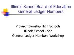 General Ledger Power Point - Proviso Township High Schools