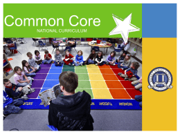 Common Core Parent Involvement