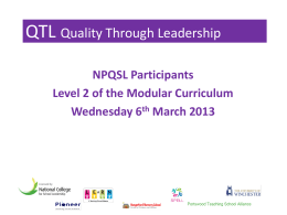 QTL Quality Through Leadership