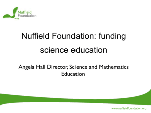 Nuffield Foundation - Science Learning Centres