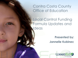 Local Control Funding Formula Updates and Ideas