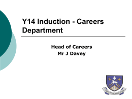 Year 14 Careers Induction Powerpoint