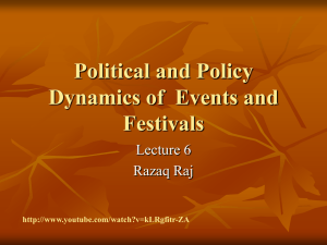 Political and Policy Dynamics of Events and Festivals
