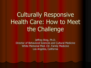 Culturally Responsive Health Care