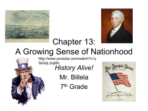 Chapter 13: A Growing Sense of Nationhood