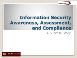 Information Security Awareness, Assessment