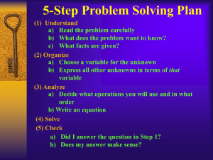 5-Step Problem Solving Plan (1)
