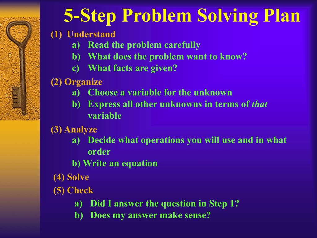 5-Step Problem Solving Plan (1)