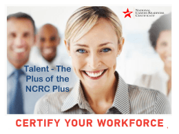 NCRC Plus Talent PPT