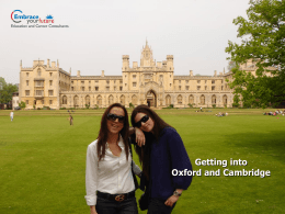Getting into Oxford and Cambridge - Embrace your Future