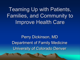 Teaming Up with Patients, Families, and Community to Improve