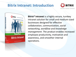 Bitrix Intranet 9.5: what`s new presentation