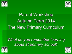Parent Workshop Curriculum - Welldon Park Junior School