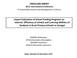 Impact of school feeding programs on cognitive - UNU