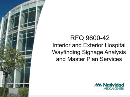 RFQ 9600-42 Interior and Exterior Hospital Wayfinding Signage