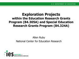 Grant Writing Presentation for Exploration Projects (Goal 1)