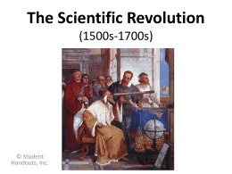 The Scientific Revolution (1543-1660)