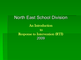 RTI Response to Intervention - Student Support Services