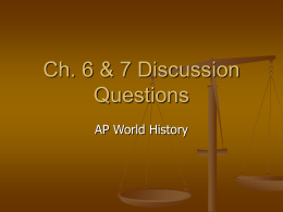 Ch. 6 & 7 Discussion Questions