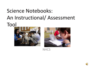 Types of Science Notebook Entries