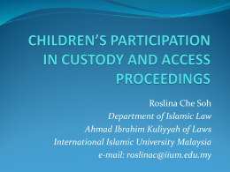 children`s participation in custody and access proceedings