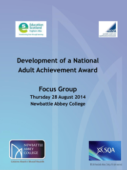 by Dec 2014 National Adult Achievement Award