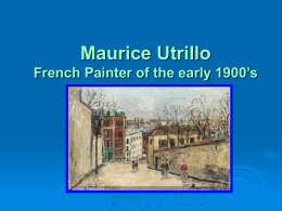 Maurice Utrillo - Dieringer School District