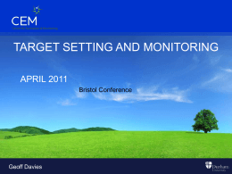 Target Setting and Monitoring