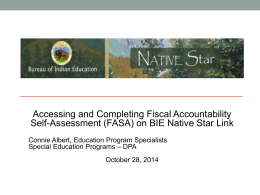 Fiscal Accountability Self-Assessment (FASA) SY2014-15