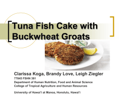 Buckwheat Tuna Patty Presentation