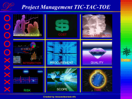 Project Management Tic-Tac-Toe