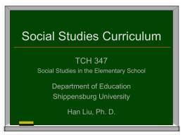 Social Studies Curriculum