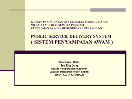 achieving improvements in service delivery - Teo