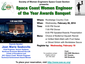 Banquet flyer - SWE Space Coast