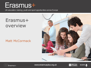 Erasmus+ 10 July 2014 NE - Europe Direct North East England