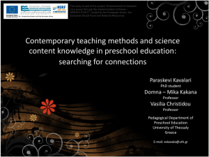 Presentation at the 4th World Conference of Educational Sciences
