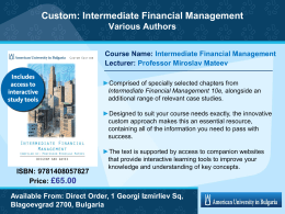 Intermediate Financial Management, 10e Brigham / Daves