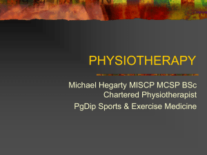 PHYSIOTHERAPY - University of Ulster